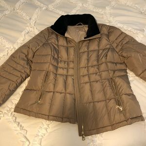 Calvin Klein Tan Puffer Winter Jacket